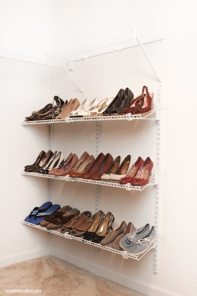 closet shoe organization makeover