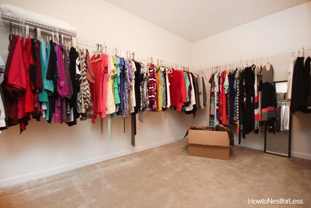 master closet shelving makeover
