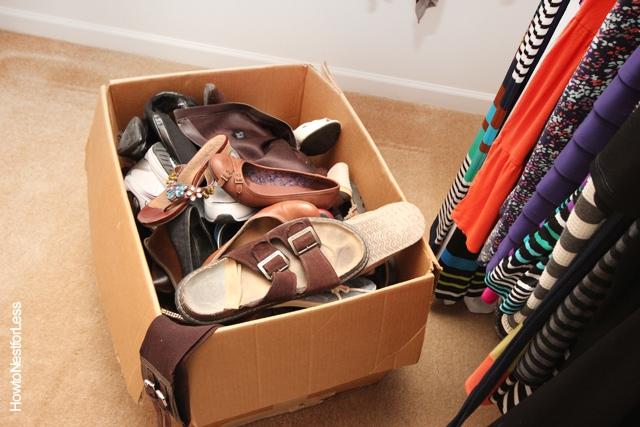 master closet shoe storage
