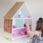 scrapbook paper covered dollhouse