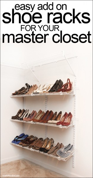 shoe organization for master closet