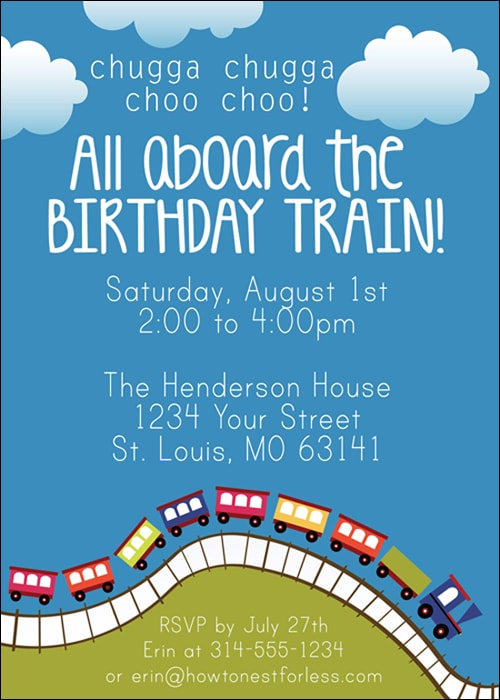 invitations for birthday party free