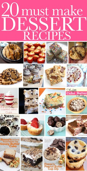 20 dessert recipe ideas