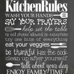 Kitchen Rules {free printable}
