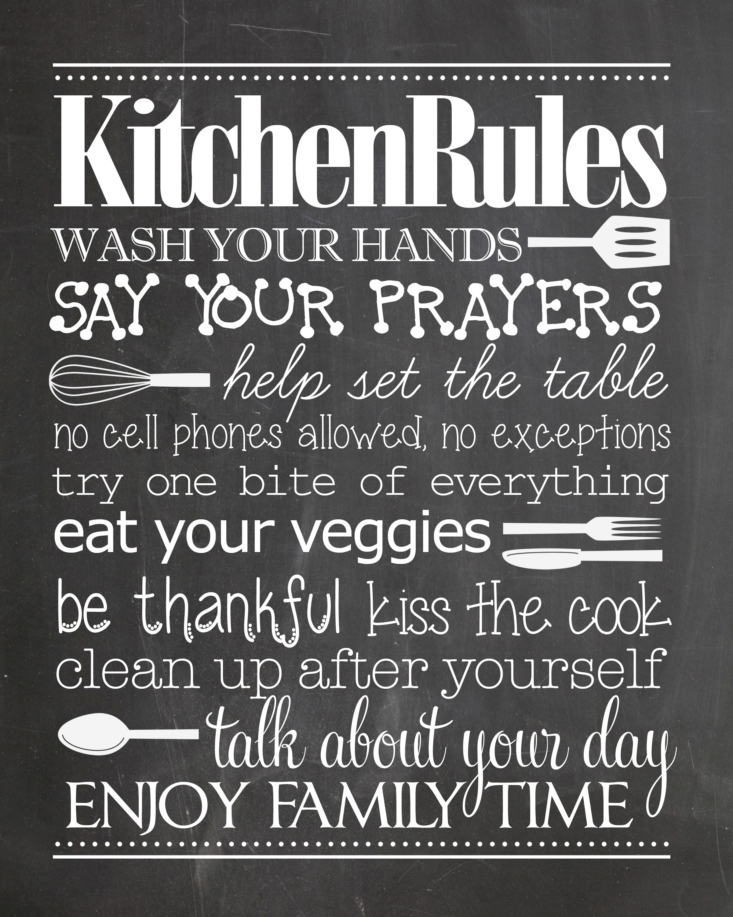 "photo regarding Wash Your Hands and Say Your Prayers Printable referred to as Kitchen area Legislation no cost printable - How toward Nest for Lessâ""¢"