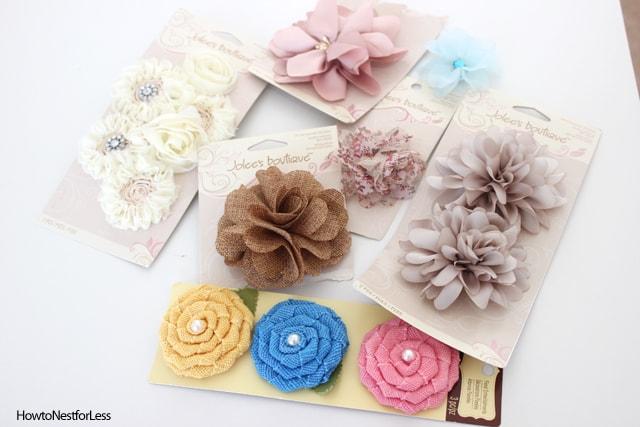 accent flower embellishments