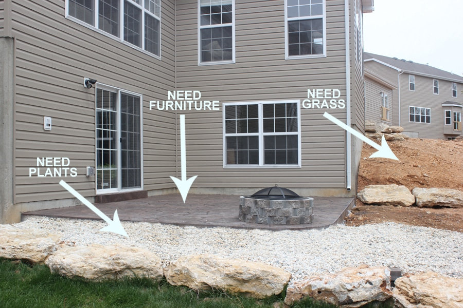 backyard plans for outdoor firepit