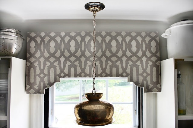 diy stenciled cornice board