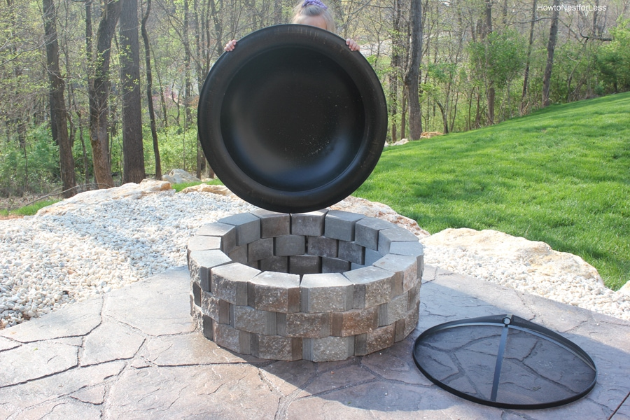 How To Build A Patio Firepit Nest For Less