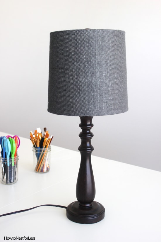 great room navy lamp shade