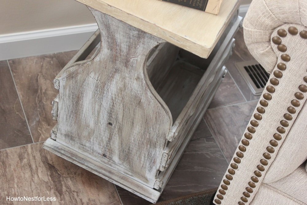 hearth room end table makeover