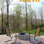 how to build an outdoor stone fire pit