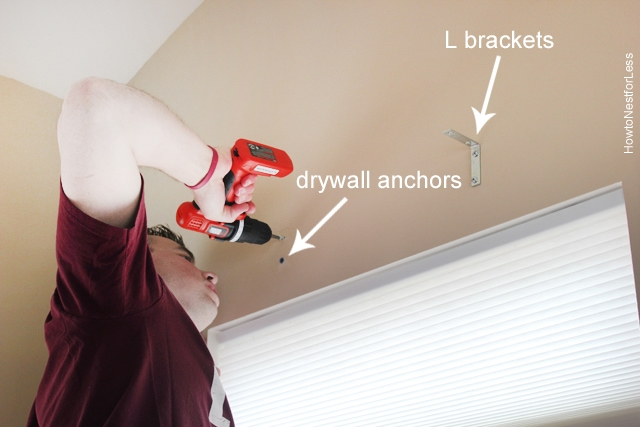 how to hang board mounted valance