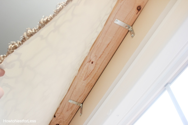 how to hang board valance