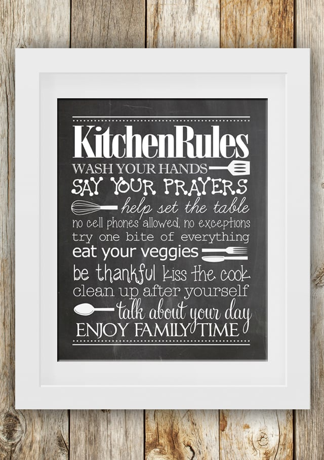 photo about Wash Your Hands and Say Your Prayers Printable known as I Hoard Cost-free Printables: Kitchen area Legal guidelines Print