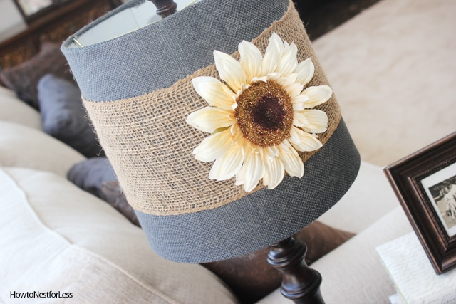 5 Minute Lamp Shade Makeover