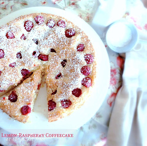 lemon raspberry coffeecake