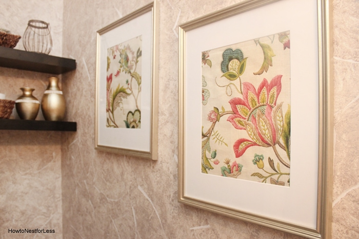 powder room makeover artwork