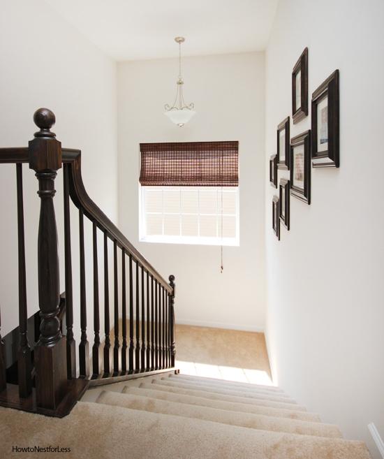 staircase roman shade