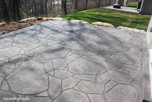 Stamped Concrete Patio : Stamped concrete patios upcoming weekend project how