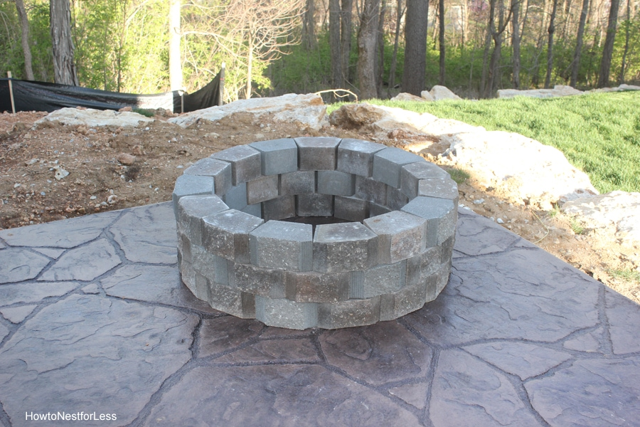 stone backyard firepit
