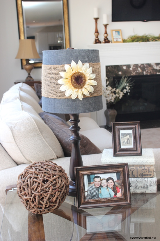 updated crafty lamp shade