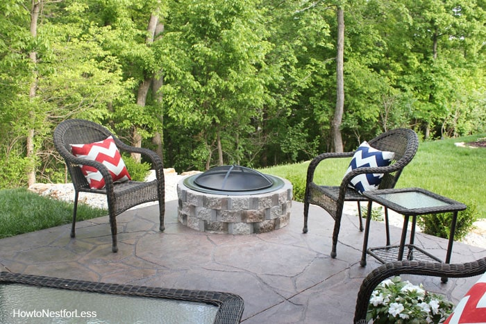 DIY outdoor firepit