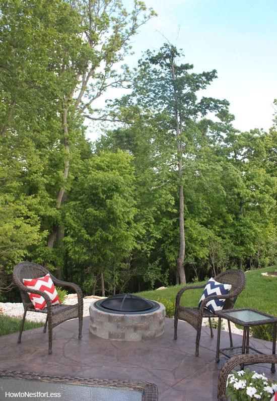backyard patio firepit