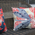 backyard stamped patio outdoor pillows
