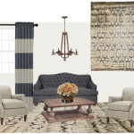 blue living room mood board
