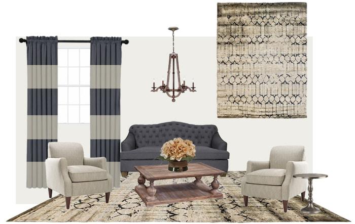 Living Room Mood Boards + Kalaty Rug GIVEAWAY!