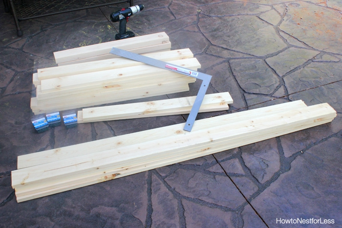 build a patio dining table