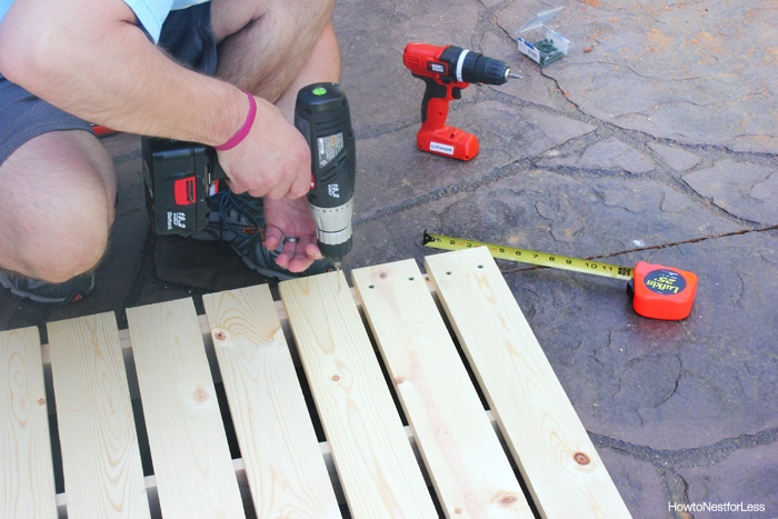 build a patio table