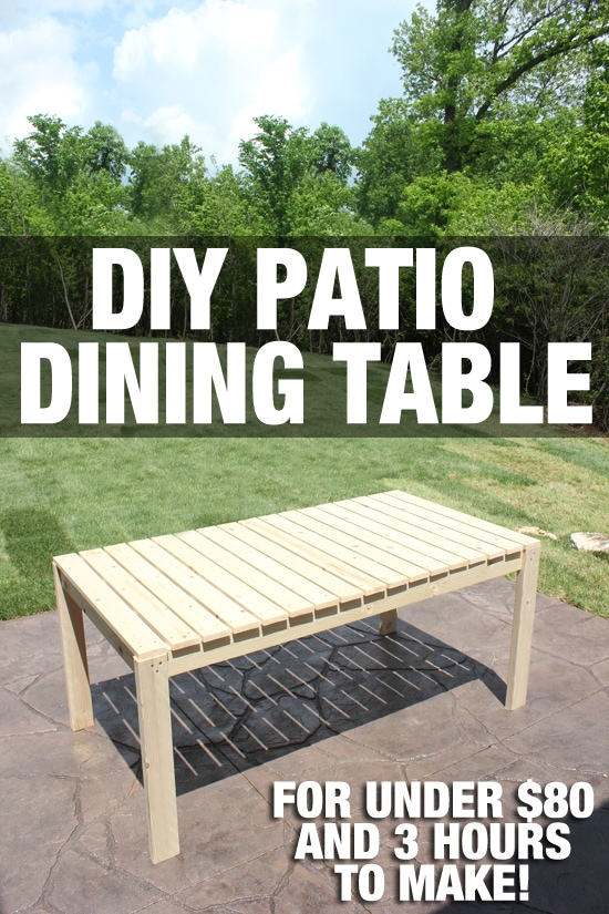 how to build a patio dining table how to nest for less. Black Bedroom Furniture Sets. Home Design Ideas