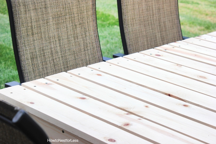 how to build patio table