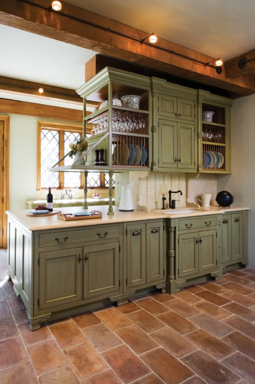 Unexpected Pop Of Color Kitchen Cabinets How To Nest