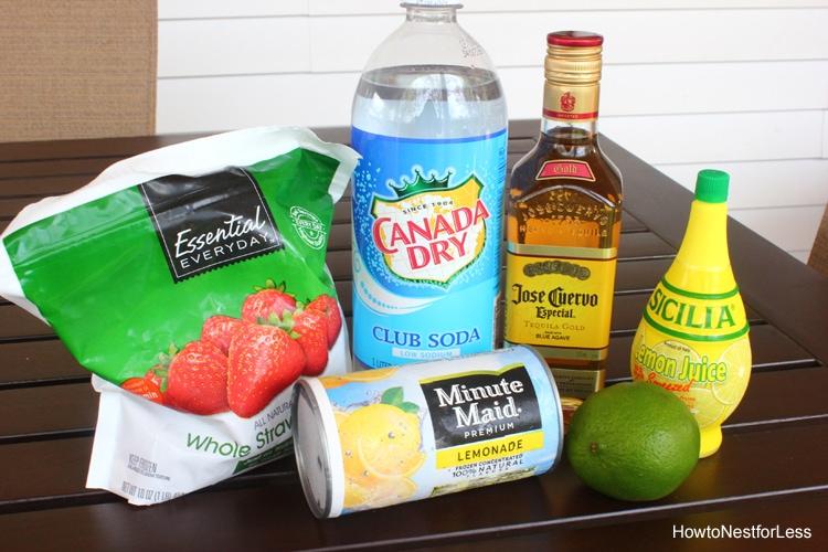 strawberry lemonade margaritas recipe
