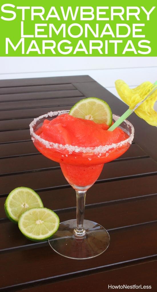 Strawberry lemonade frozen margaritas how to nest for less - Lemonade recipes popular less known ...