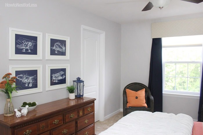 airplane bedroom makeover