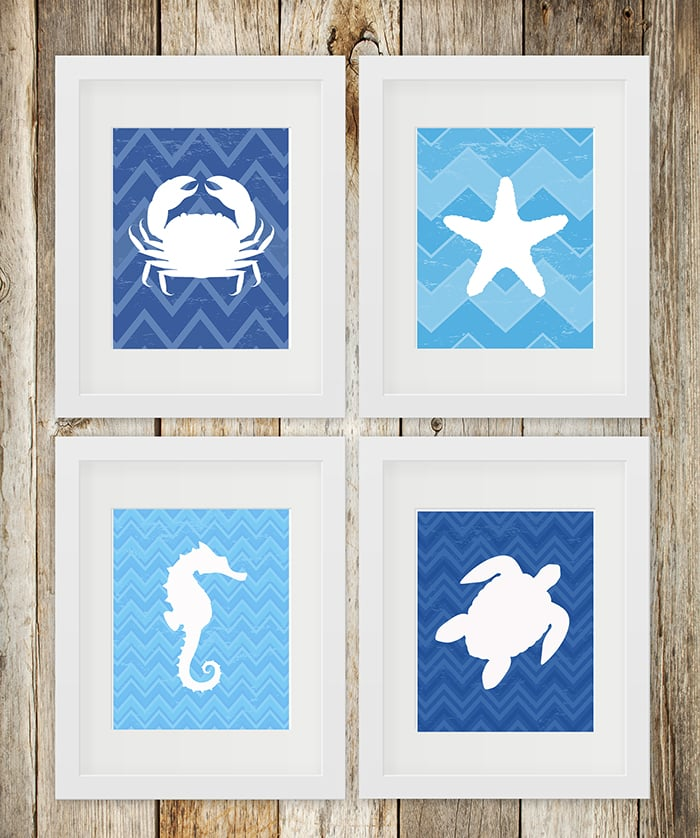 Ocean Animal FREE Printables {set of 4}
