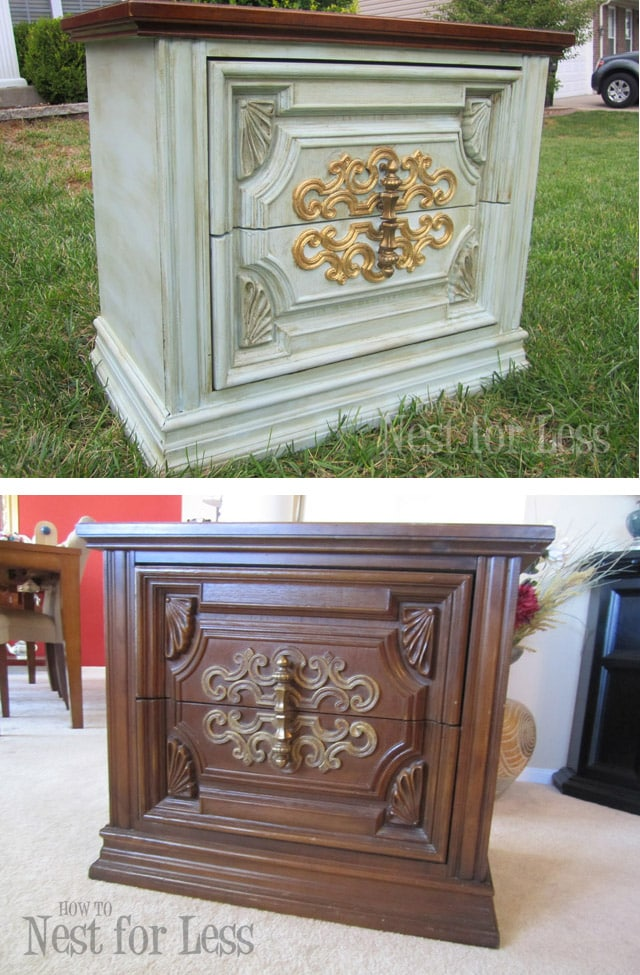chalk paint table before and after