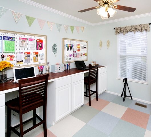 craft room makeover DIY desk