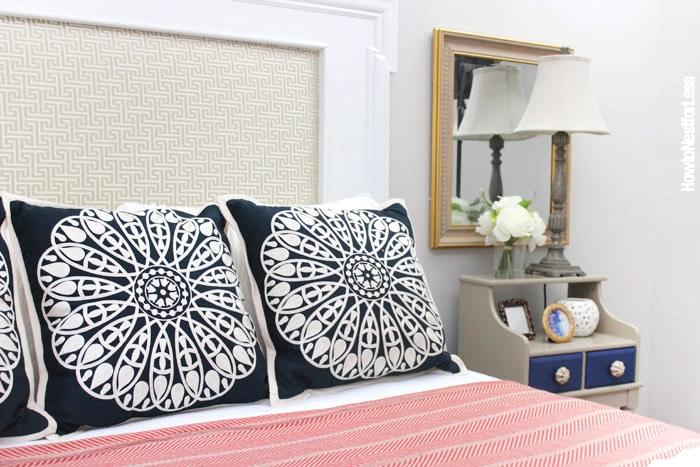 diy-fireplace-mantel-headboard-guest-bedroom
