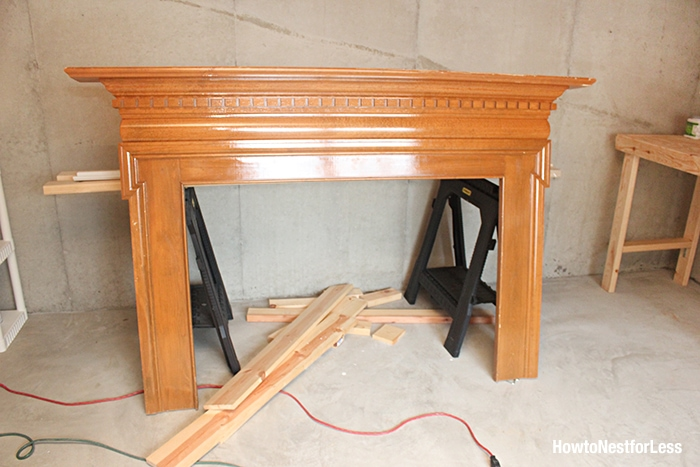 fireplace mantel headboard