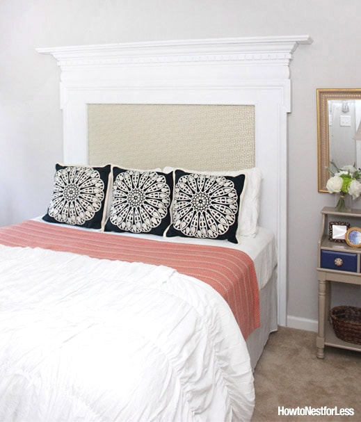 Upholstered Fireplace Mantel Headboard
