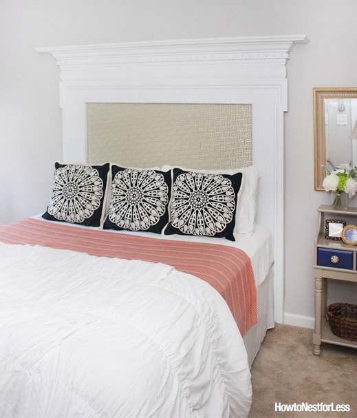 guest bedroom makeover DIY headboard