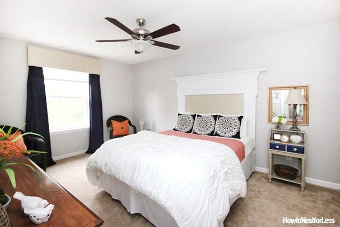 guest-bedroom-makeover-navy-and-orange