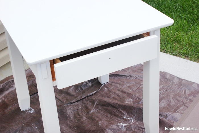 old white end table ASCP