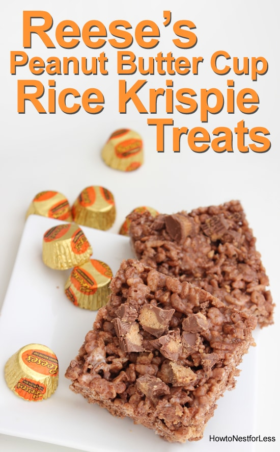 reeses peanut butter cup rice krispie treats