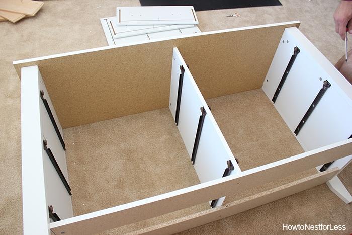 sauder white dresser assembly